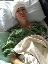 In ICU after my craniotomy, July 2015